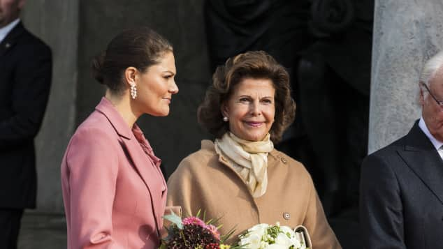 Prinzessin Victoria und Königin Silvia