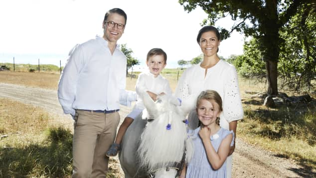 Prinzessin Victoria, Prinz Daniel, Prinzessin Estelle, Prinz Oscar Urlaub Öland