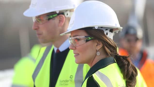 Herzogin Kate, Prinz William, Brücke, Sunderland, Einweihung