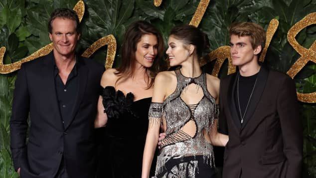 Kaia Gerber, Rande Gerber, Cindy Crawford, Presley Crawford Fashion Awards 2018