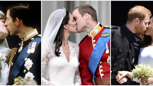Die britischen Royals an ihren Hochzeiten