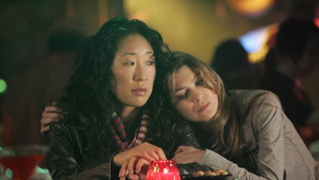 Sandra Oh and Ellen Pompeo in Grey's Anatomy