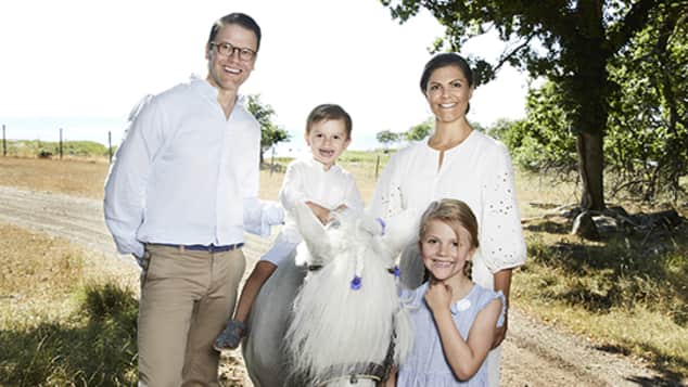 Prince Daniel, Prince Oscar, Princess Victoria and Princess Estelle