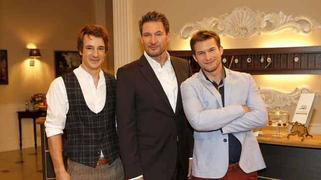 "Sebastian Fischer, Dieter Bach und Florian Frowein am ""Sturm der Liebe""-Set"