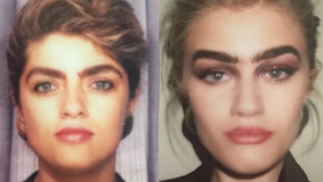 Sophia Hadjipanteli und ihre Mutter Monoaugenbraue Augenbraue Influencer