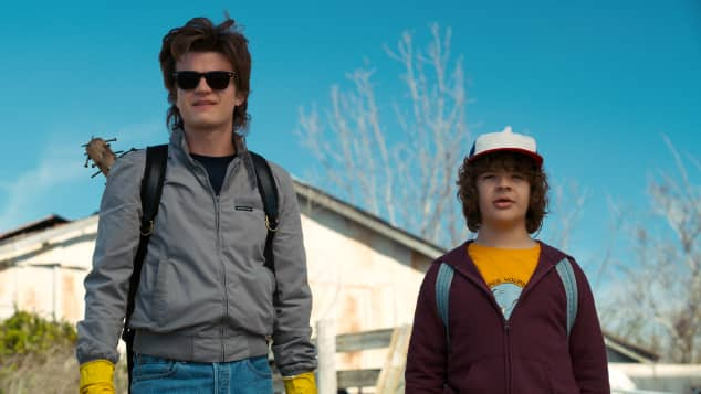 "Staffel 3 ""Stranger Things"", ""Stranger Things"", ""Stranger Things"" ""Steve"" und ""Dustin"", ""Stranger Things"" ""Steve"" und ""Dustin"" Szene"