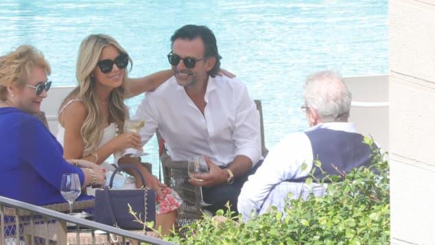 Sylvie Meis und Niclas Castello in Florenz