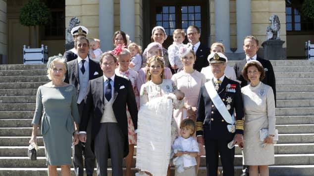 Taufe von Adrienne von Schweden: Die Taufgesellschaft und der Ehrengast