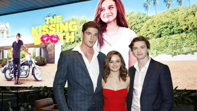 """""""The Kissing Booth"""": Jacob Elordi, Joey King and Joel Courtney"""