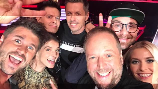"Die ""The Voice of Germany""-Coaches Michi Smudo Yvonne Catterfeld Mark Forster Michael Patrick Kelly Lena Gercke Thore Schölermann"