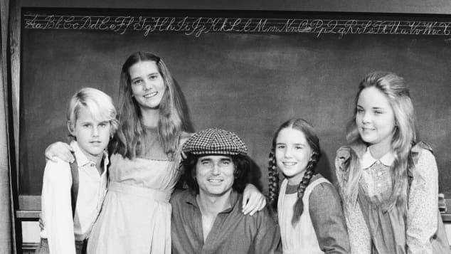 """""""Unsere kleine Farm"""": Michael Landon Jr., Leslie Landon, Michael Landon, Melissa Gilbert, Melissa Sue Anderson"""