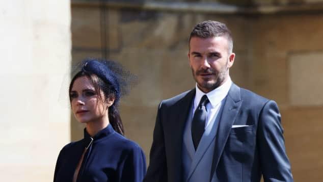 David und Victoria Beckham auf der Hochzeit von Meghan und Harry