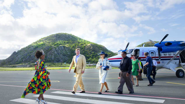 König Willem-Alexander Königin Máxima Niederlande Holland Royals Urlaub St. Eustatius atemberaubende Kulisse
