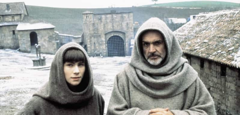 "Christian Slater und Sean Connery in ""Der Name der Rose"""