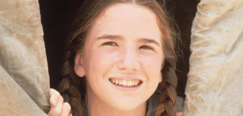 Melissa Gilbert in Little House on the Prairie.