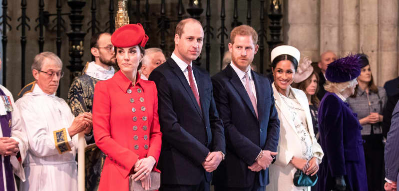 William, Kate, Harry and Meghan at the Commonwealth Day Service 2019