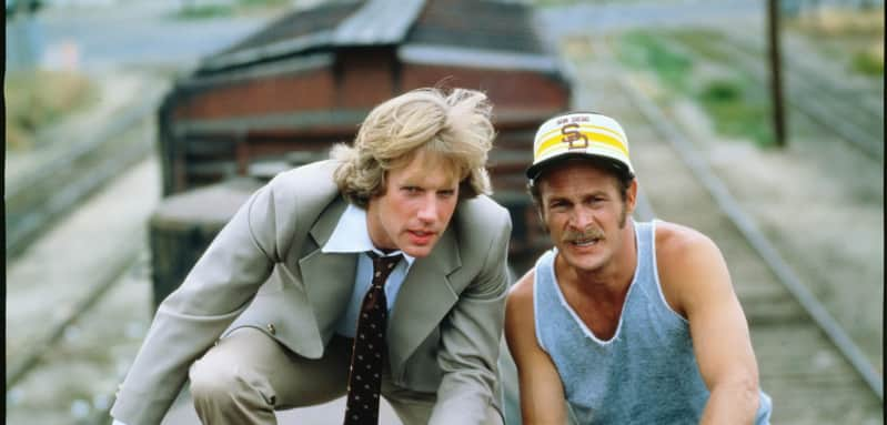 Gerald McRaney and Jameson Parker in Simon & Simon