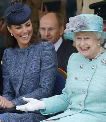 Duchess Catherine and Queen Elisabeth II
