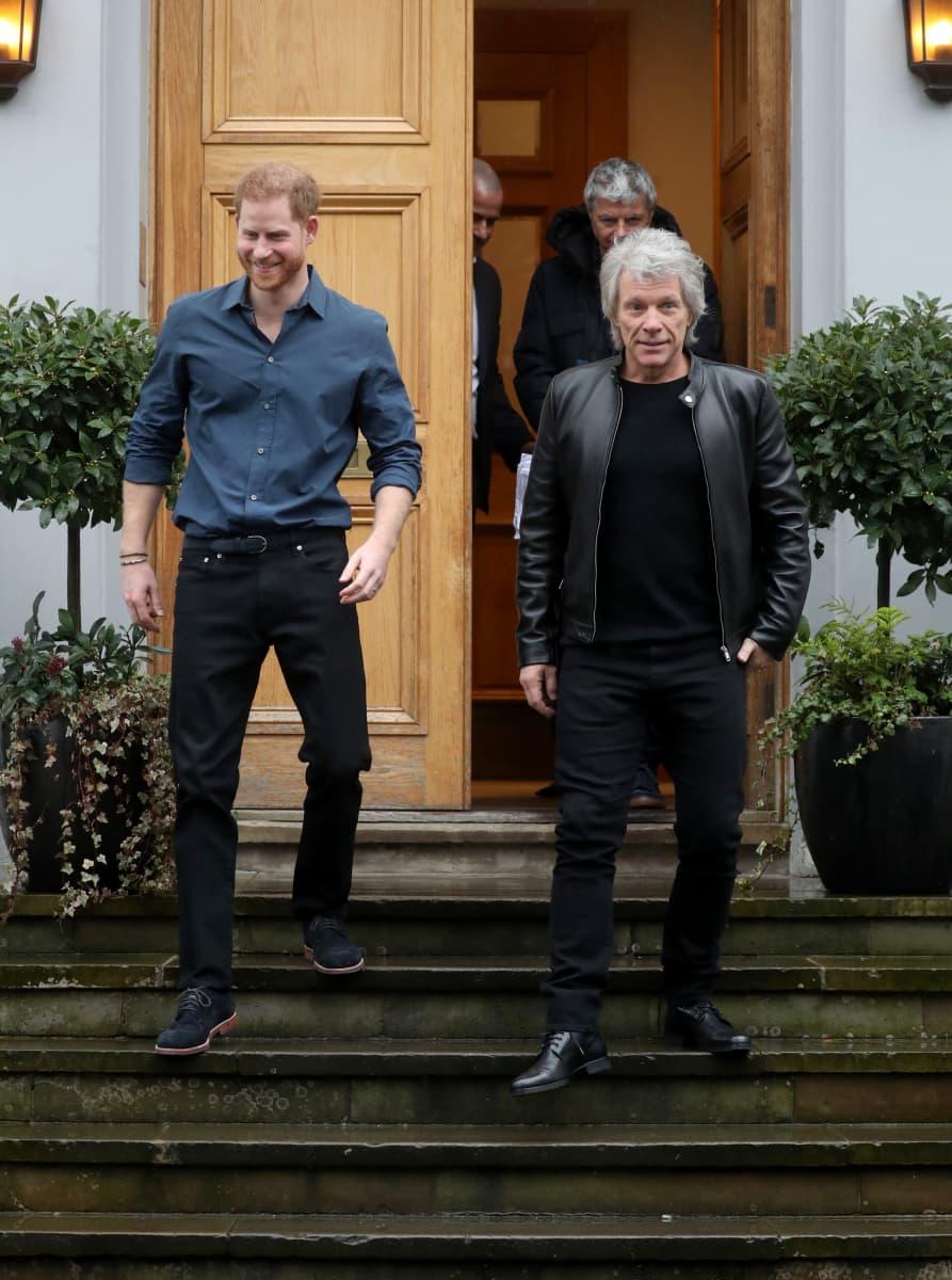 Prinz Harry mit Jon Bon Jovi im Musikstudio – wird er jetzt zum Sänger?