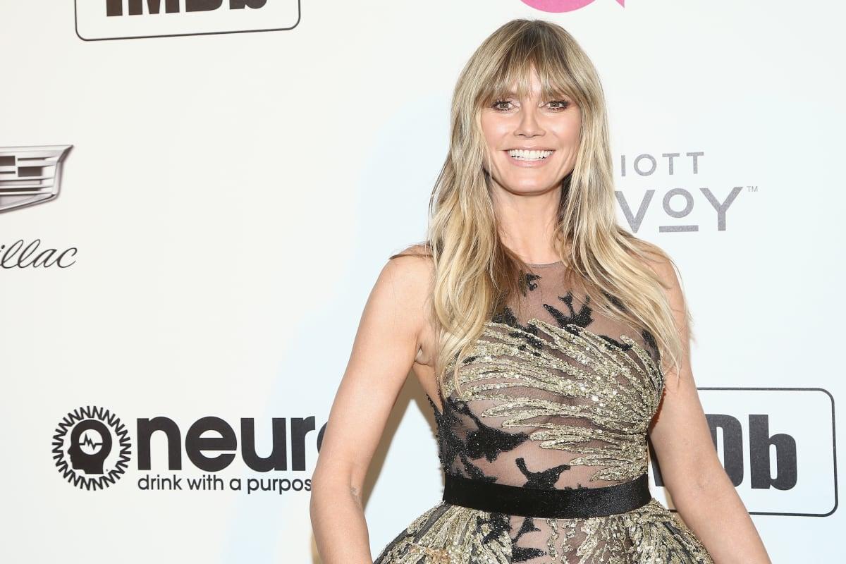 BH-Blitzer bei Heidi Klum: Transparentes Top gibt Blick frei