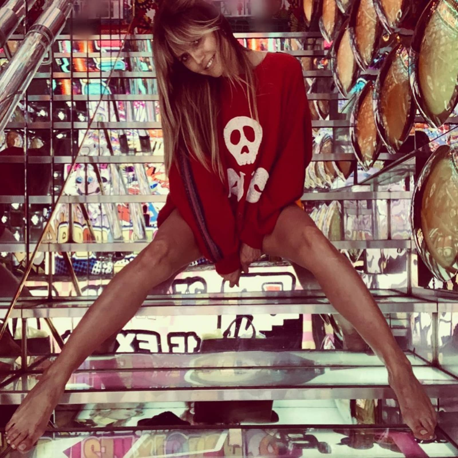 Heidi Klum postet Unten-ohne-Bild