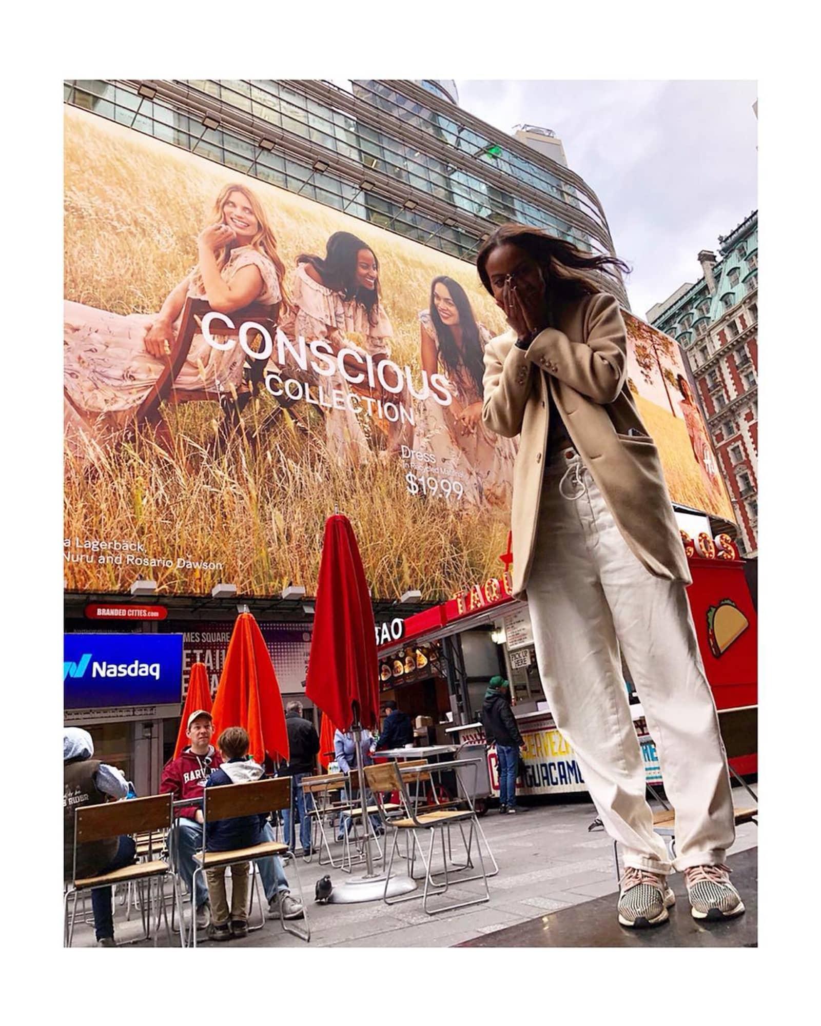 Sara Nuru hat es an den Times Square geschafft