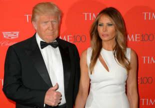 Donald und Melania Trump im Jahr 2016 Frau Ehefrau