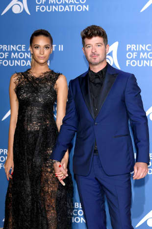 Robin Thicke mit Freundin April Love Geary