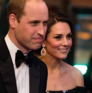 Herzogin Kate und Prinz William bei den 70. British Academy Film Awards (BAFTA) in der Royal Albert Hall
