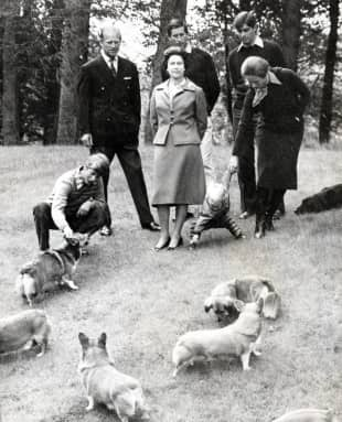 Königin Elisabeth, Prinz Philip, Prinz Charles, Prinzessin Anne, Prinz Andrew, Prinz Edward