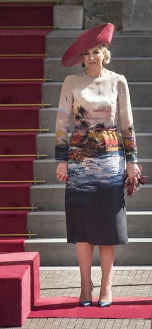 Königin Máxima beim Empfang für den griechischen Präsidenten