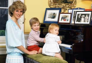 Lady Diana, Prinz William und Prinz Harry