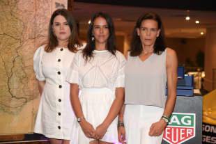 Stéphanie von Monaco mit ihren hübschen Töchtern Camille (links) und Pauline (Mitte)