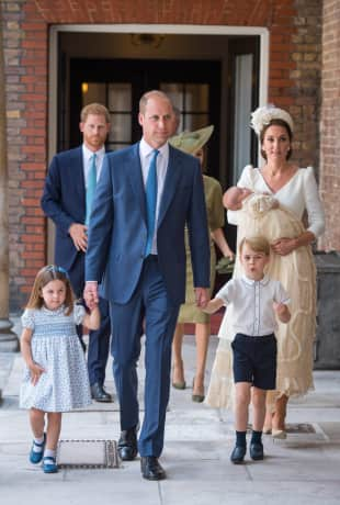 Prinzessin Charlotte, Prinz William, Prinz George, Herzogin Kate und Prinz Louis