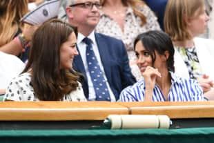 Herzogin Kate und Herzogin Meghan zusammen beim Damen-Finale in Wimbledon