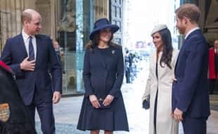 Meghan Markle und Herzogin Kate strahlen bei gemeinsamen Auftritt um die Wette