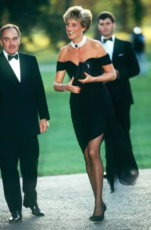 Lady Diana im sogenannten Rache-Kleid im Jahr 1994