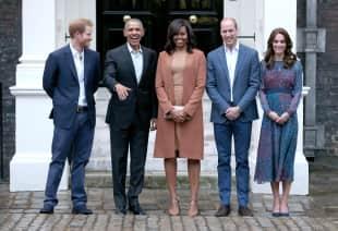 Die Obamas bei einem Besuch im Kensington Palast im Jahr 2016