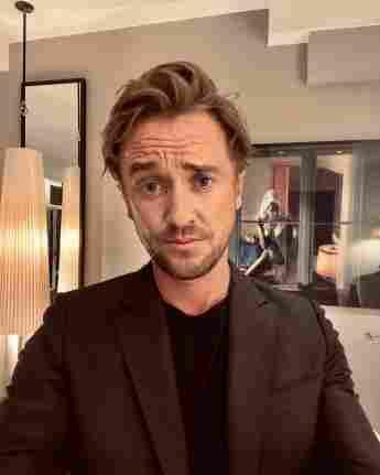 tom felton instagram selfie