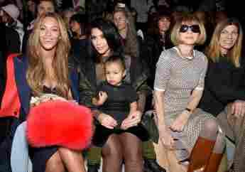Beyoncé Knowles, Kim Kardashian, North West und Anna Wintour auf der New York Fashion Week