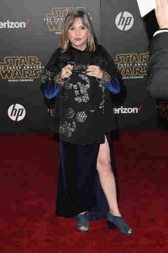 """Carrie Fisher auf der """"Star Wars: Episode VII - Das Erwachen der Macht""""-Premiere"""