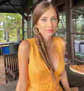 Cathy Hummels mit aufwendiger Flechtfrisur