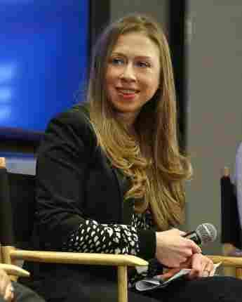 Chelsea Clinton ist die Tochter von Bill Clinton