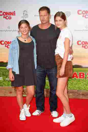 Till Schweiger mit seinen Töchtern Emma und Lilli