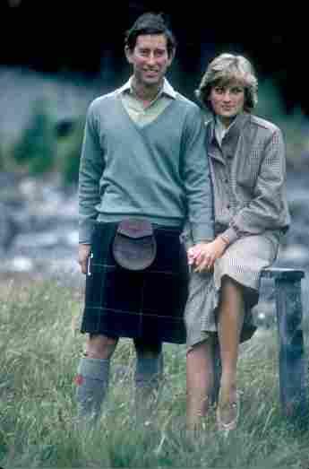 Lady Diana und Prinz Charles in der Natur