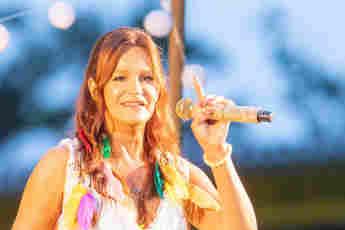 Andrea Berg bei ihrem Open Air-Konzert in Aspach am 24. Juli 2021