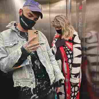 Bill Kaulitz mit seiner Mutter