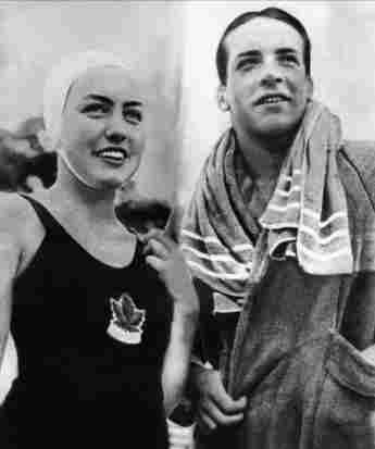 Bud Spencer bei den Olympischen Spielen in Helsinki als Mitglied der italienischen Schwimm-Nationalmannschaft am 1. August 1952