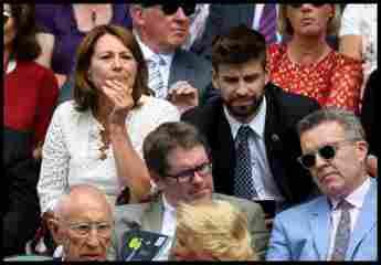 Carole Middleton und Gerard Piqué gemeinsam in Wimbledon