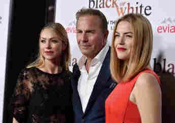 Kevin Costner mit seiner Frau und seiner Tochter